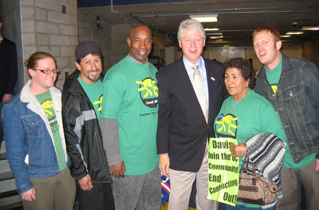 Clinton with Sodexho Workers