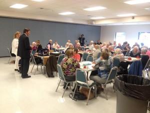 Garamendi greets seniors at the Davis Senior Center