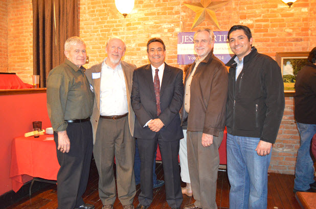 Skip Davies, Current Mayor; Gary Sandy; Ortiz; Dan Parrish; and Art Pimentel.